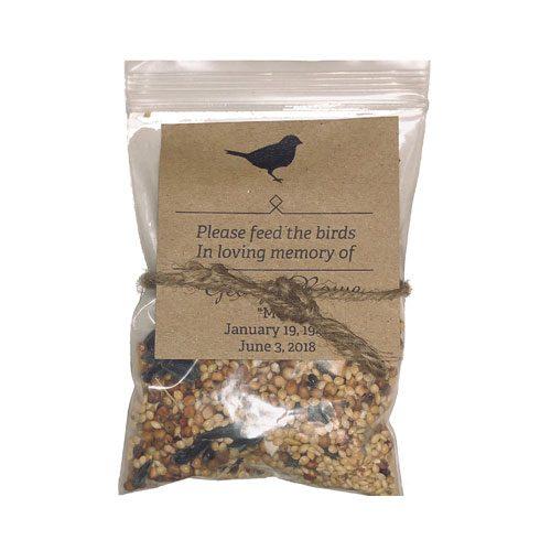 memorial bird seed pack